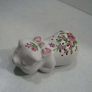 Vtg Avon Pampered Piglet Ceramic Pomander Sachet
